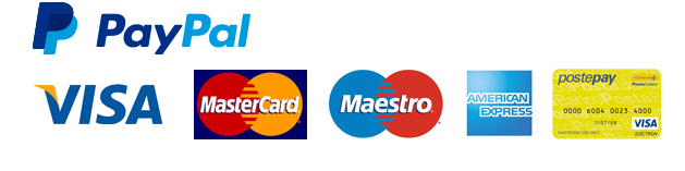 Secure Payments with Paypal, Credit Cards, Direct Bank Transfert, Postepay Recharge