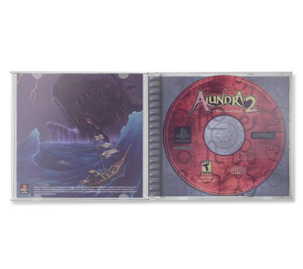 Sony PlayStation 1 PSX Alundra 2: A New Legend Begins NTSC-U (USA) inlay inside cover cd