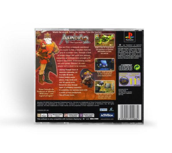 Sony PlayStation 1 PSX Alundra 2: A New Legend Begins PAL (EUR) back