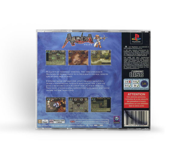 Sony PlayStation 1 PSX The Adventures of Alundra PAL (EUR) back